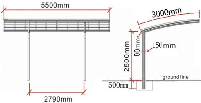 Fabulous copertura auto with coperture garage for Due box auto con posto auto coperto